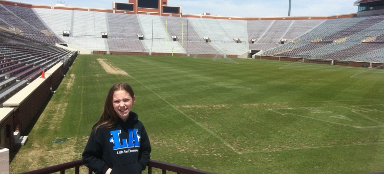 My G&T middle daughter Leigha at Owen Field at The University of Oklahoma, Norman