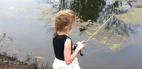 My youngest daughter Meagan loves to fish, but apparently literary agents do to...for a living.