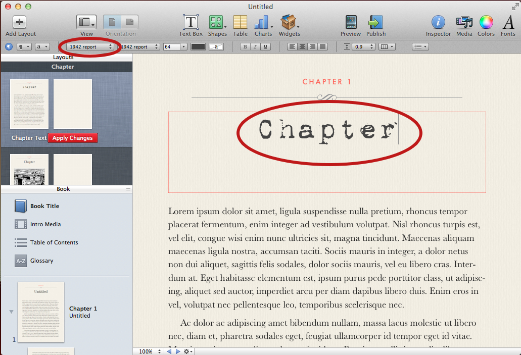 How to Customize iBook Author Templates | Writing Is Hard Work