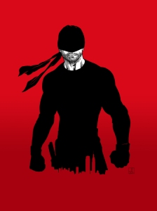 Daredevil by Sean Izaakse.  I posted a link to his art at the bottom of this article.  Check it out!