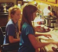 kaylee and meagan making dumplings